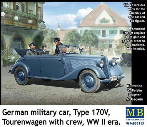 Master Box  MB35113 German military car,Type 170V Tourenwage with crew WWII