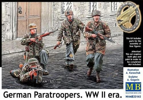 Master Box  MB35145 German Paratroopers, WWII era