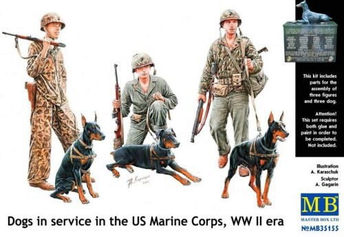 Master Box  MB35155 Dogs in service in US Marine Corps