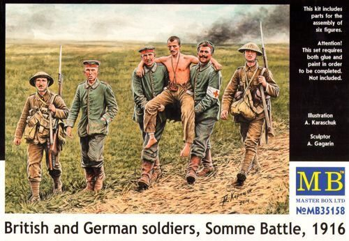 Master Box Ltd. MB35158 British and German soldiers,Somme Battle