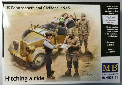 Master Box Ltd. MB35161 Hitching a ride US Paratroopers a.Civili