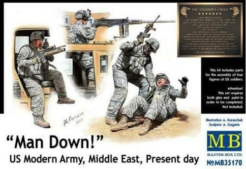 Master Box  MB35170 Man Down! U.S. Modern Army,Middle east