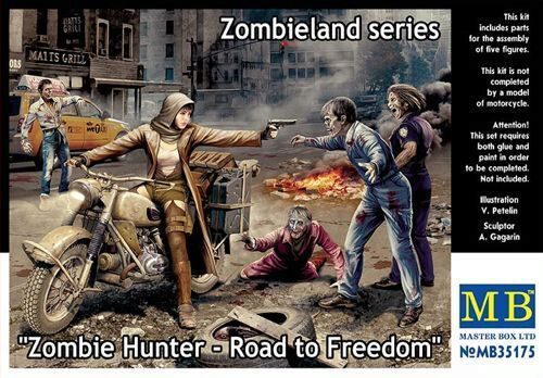 Master Box  MB35175 Zombie Hunter-Road to Freedom.Zombieland
