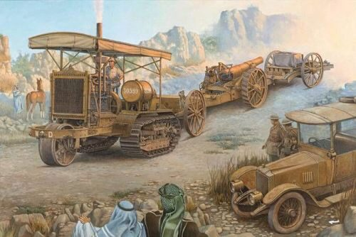Roden 814 Holt 75 Artillery Tractor w/BL 8-inch Howitzer