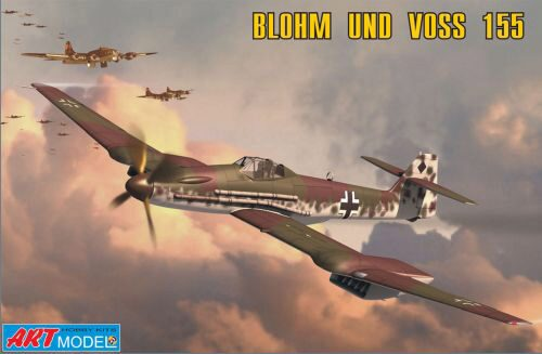 Art Model ART7202 Blohm & Voss 155V2 WWII Ger. interceptor