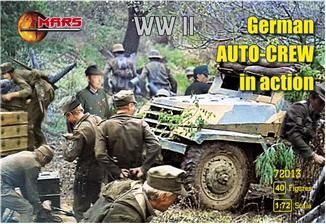 Mars Figures MS72013 WWII German auto-crew in action