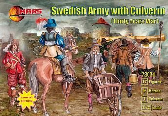 Mars Figures MS72031 Swedish Army with culverin, 30 years war
