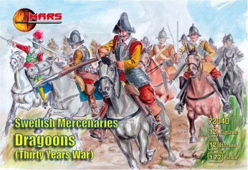 Mars Figures MS72040 Swedish Mercenaries Dragoons, 30 Y. War