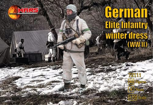 Mars Figures MS72111 WWII German elite infantry,winter dress
