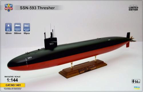 Modelsvit MSVIT1401 USS Thresher (SSN-593) submarine