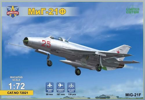 "Modelsvit MSVIT72021 MIG-21F(Izdeliye""72"")Soviet supersonic fighter"