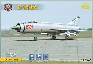 Modelsvit MSVIT72028 Ye-152A Soviet twin-engined interceptor prototype