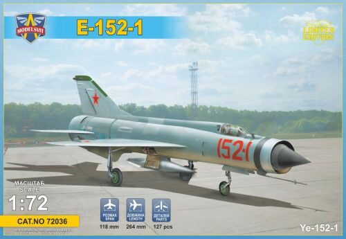 Modelsvit MSVIT72036 Ye-152-1 Experimental supersonic interceptor