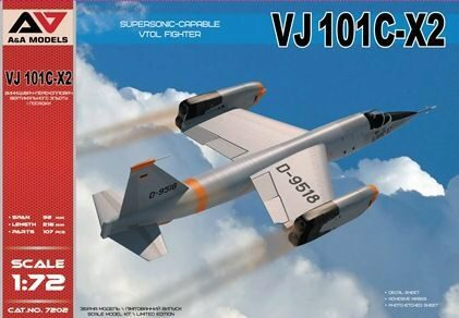 Modelsvit AAM7202 VJ101C-X2 Supersonic-capable VTOL fighte