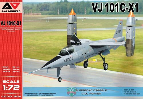 Modelsvit AAM7203 VJ101C-X1 Supersonic-capable VTOL fighte