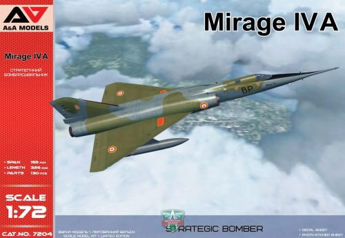 Modelsvit AAM7204 Mirage IV A Strategic bomber