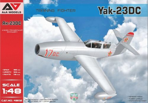 Modelsvit AAM4802 Yakovlev Yak-23 DC Training Fighter Fighter