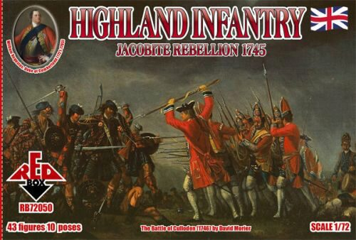 Red Box RB72050 Highland Infantry 1745,Jacobite Rebell.
