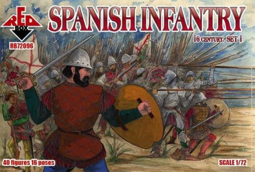 Red Box RB72096 Spanish infantry, 16th century, set 1