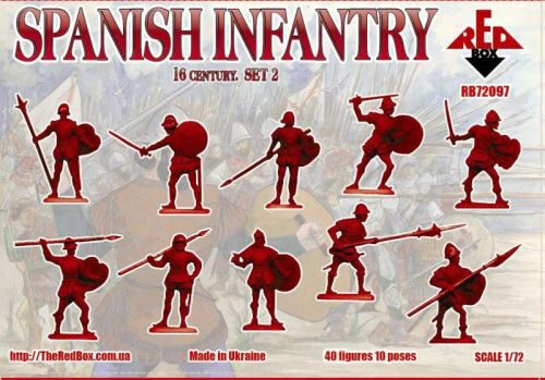 Red Box RB72097 Spanish infantry, 16th century, set 2