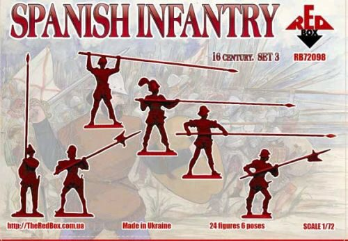 Red Box RB72098 Spanish infantry(Pike),16th century,set3