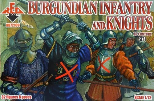 Red Box RB72109 Burgundian infantry a.knights,15th centu set 1