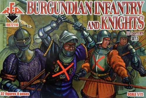 Red Box RB72110 Burgundian infantry a.knights,15th centu set 2