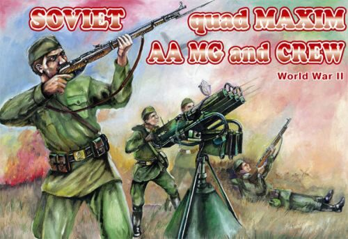 Orion ORI72037 Soviet quad Maxim AA MG and crew