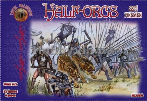 ALLIANCE ALL72015 Half-Orcs pikemen, set 1
