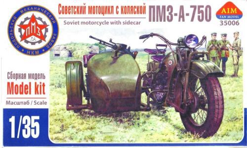 AIM -Fan Modell AIM35006 PMZ-A-750 Soviet motorcycle with sidecar