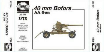 Planet Models MV084 40mm Bofors AA Gun