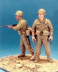 Hobby Fan HF538 First Cavalry 1965 LZ-Ray- 2 Fig. w/Base