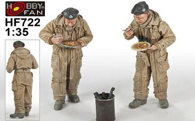 "Hobby Fan HF722 British Tank Crew""Meals for victory""2Fig"