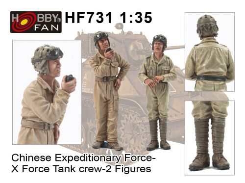 Hobby Fan HF731 Chinese Expeditionary Force-XForce Tank Crew-2 Figures