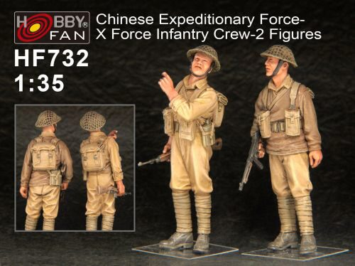 Hobby Fan HF732 Chinese Expeditionary Force-X Force Infa Infantry Crew-2 Figures