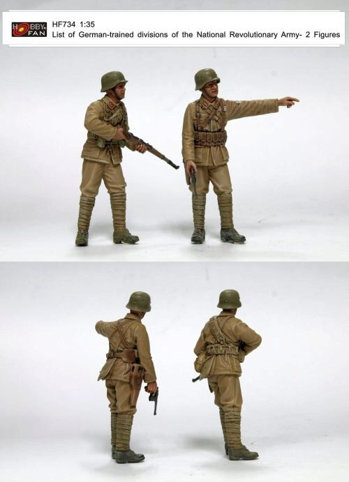 Hobby Fan HF734 List of German-trained divisions of the National Revolutionary Army-2 resin figures
