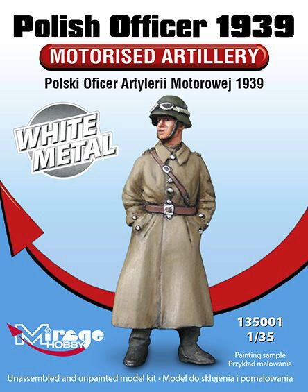 Mirage Hobby 135001 Polish Officer 1939 Motorised Artillery White Metal