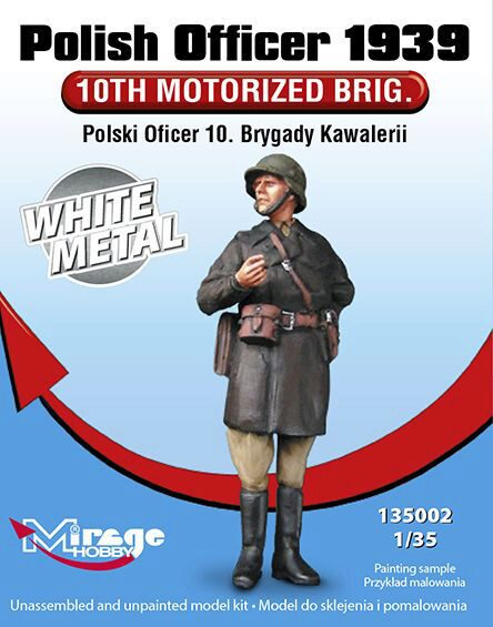 Mirage Hobby 135002 Polish Officer 1939'10th Motorised Brig. White Metal