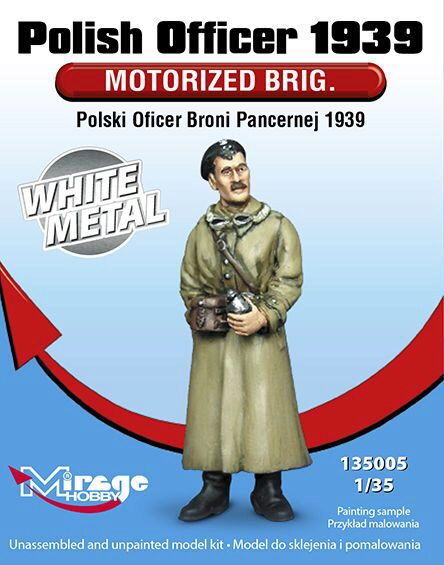 Mirage Hobby 135005 Polish Officer1939 Motorised Brig.WhiteM White Metal