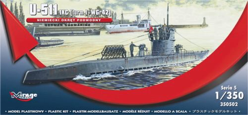 Mirage Hobby 350502 German U-Boot U-511 - IX C (turmI+WGr42)