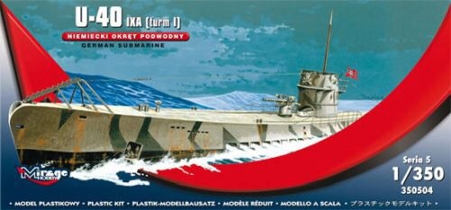 Mirage Hobby 350504 U-40 IXA (Turm i) German Submarine