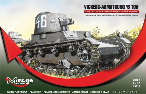 Mirage Hobby 355010 Vickers Armstrong 6ton mk F/B Light tank