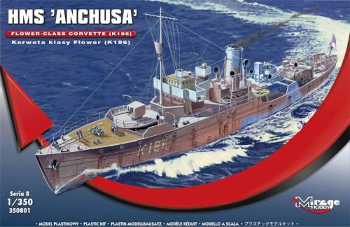 "Mirage Hobby 350801 HMS ""Anchusa"" Flower-Class Corvette K186"