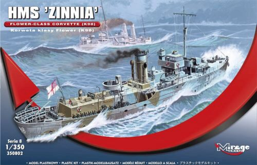 "Mirage Hobby 350802 HMS ""Zinnia"" Flower-Class Corvette K98"