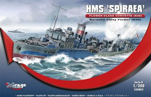 Mirage Hobby 350803 HMS SPIRAEA Flower-Class Corvette (K08)