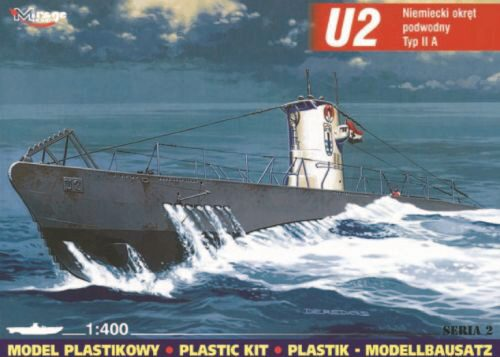 Mirage Hobby 40023 Deutsches U-Boot U 2 Typ IIA