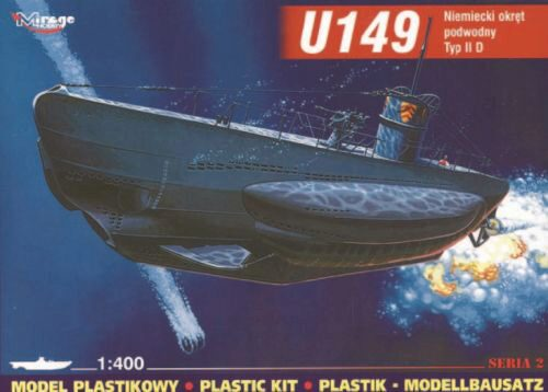 Mirage Hobby 40026 Deutsches U-Boot U 149 Typ IID