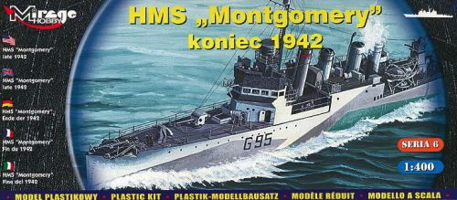 Mirage Hobby 40607 HMS 'Montgomery' late 1942