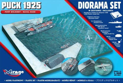 Mirage Hobby 401001 Puck 1925 Diorama Set (Naval Base)