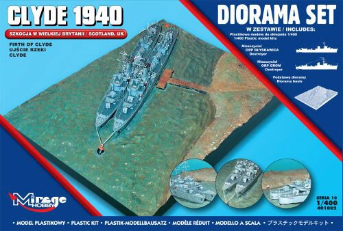 Mirage Hobby 401002 Clyde 1940 Diorama Set (Scotland,Firth of Clyde)